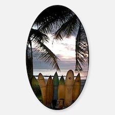 Surf Costa Rica Sticker (Oval)