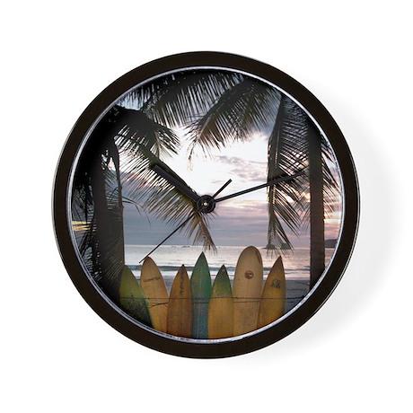 Surf Costa Rica Wall Clock