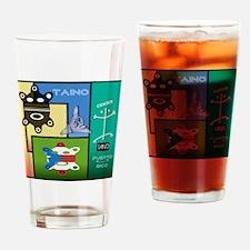 Taino Art Design Drinking Glass