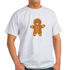 Cute and Happy Christmas Gingerbread Man T-Shirt
