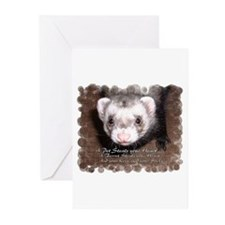 """""""A ferret steals your heart.. and"""" Greeting Cards"""