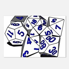 Polyhedral Gaming Dice Set Postcards (Package of 8
