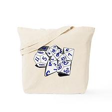 Polyhedral Gaming Dice Set Tote Bag