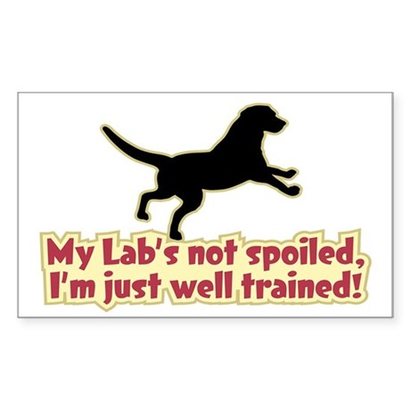 Spoiled Lab? - Sticker (Rectangle)