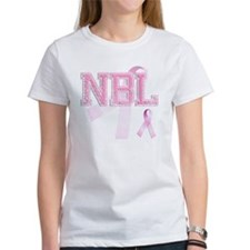 NBL initials, Pink Ribbon, Tee
