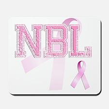 NBL initials, Pink Ribbon, Mousepad