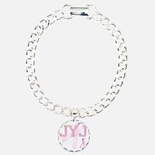JYJ initials, Pink Ribbo Bracelet