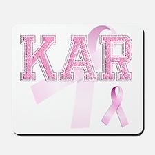 KAR initials, Pink Ribbon, Mousepad