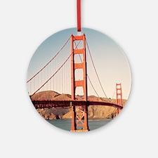 Golden Gate Bridge 2 Round Ornament
