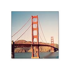 "Golden Gate Bridge 2 Square Sticker 3"" x 3"""