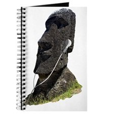 Moai Head Ear Buds 1 Journal
