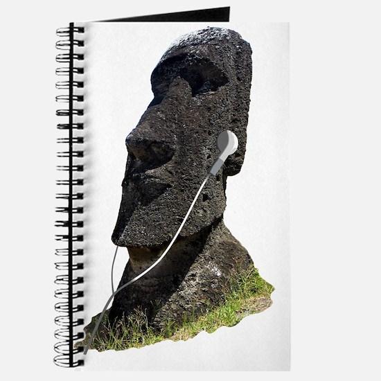 Moai Head Ear Buds 1 Journal