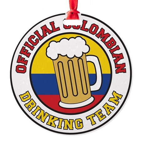 Official Colombian Drinking Team Round Ornament