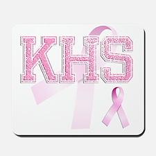 KHS initials, Pink Ribbon, Mousepad