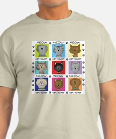 Meow Cat Lover T-Shirt