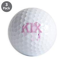KIX initials, Pink Ribbon, Golf Ball