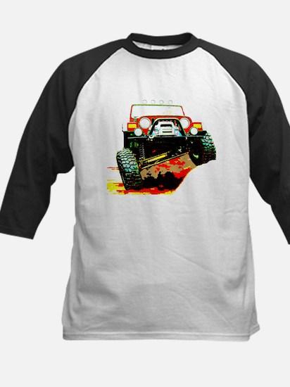 Jeep rock crawling Kids Baseball Jersey