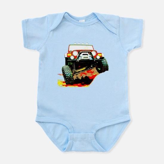 Jeep rock crawling Infant Bodysuit