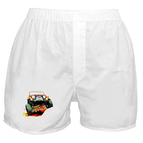 Jeep rock crawling Boxer Shorts