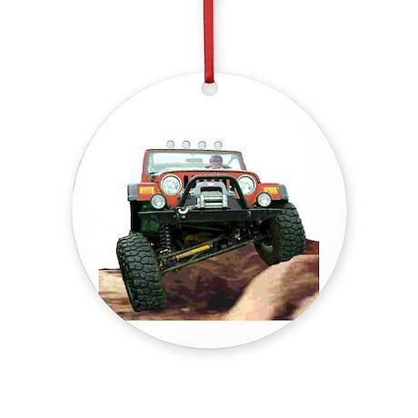 Jeep rock crawling Ornament (Round)