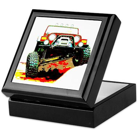 Jeep rock crawling Keepsake Box