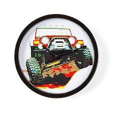 Jeep rock crawling Wall Clock