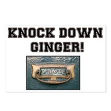 KNOCK DOWN GINGER - UK Postcards (Package of 8)