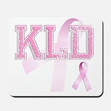 KLD initials, Pink Ribbon, Mousepad
