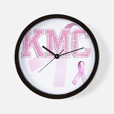 KMC initials, Pink Ribbon, Wall Clock