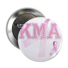 "KMA initials, Pink Ribbon, 2.25"" Button"