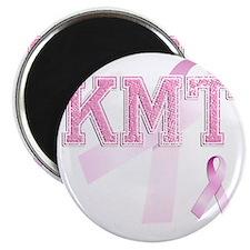 KMT initials, Pink Ribbon, Magnet