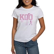 KOO initials, Pink Ribbon, Tee