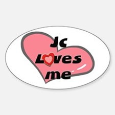 jc loves me Oval Decal