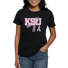 KSU initials, Pink Ribbon, Tee