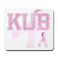 KUB initials, Pink Ribbon, Mousepad