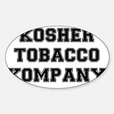KOSHER TOBACCO COMPANY Sticker (Oval)