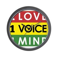 NEW-One-Love-voice-mind3 Wall Clock