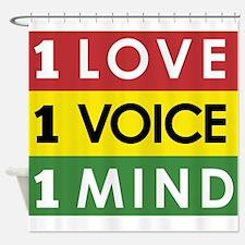 NEW-One-Love-voice-mind3 Shower Curtain