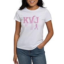 KVJ initials, Pink Ribbon, Tee