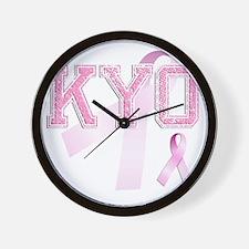 KYO initials, Pink Ribbon, Wall Clock