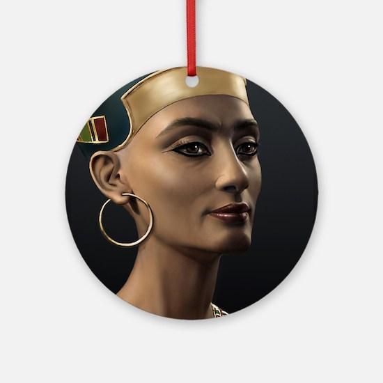 9X12-Sml-framed-print-Nefertiti Round Ornament