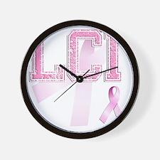 LCI initials, Pink Ribbon, Wall Clock