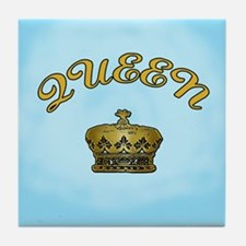 Queen with Crown Tile Coaster