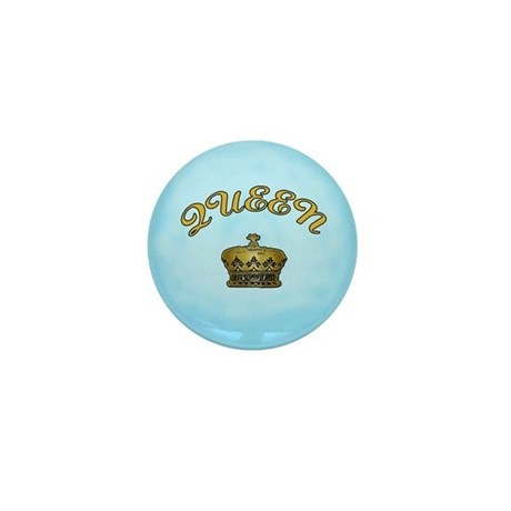 Queen with Crown Mini Button (100 pack)