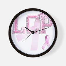 LCP initials, Pink Ribbon, Wall Clock