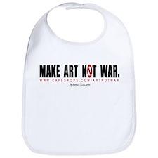 MAKE ART NOT WAR Bib by shonnaSTYLE Couture