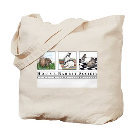 Three Bunnies Tote Bag