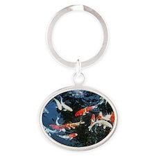 Something Fishy Oval Keychain