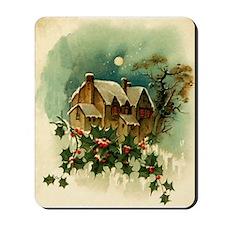 Vintage Christmas Scene Mousepad