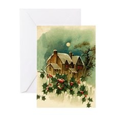 Vintage Christmas Scene Greeting Card